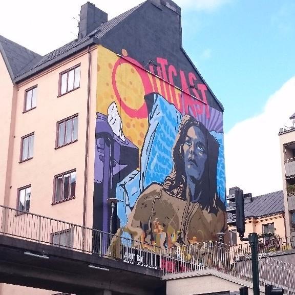 Muralreklam på Långholmsgatan